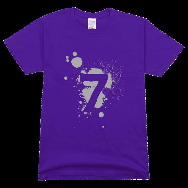 七班班服幸运数字7高档彩色t恤图片
