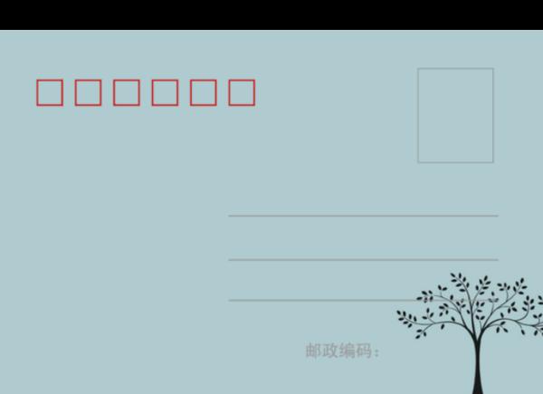 简约素雅简笔画-全景明信片(横款)套装图片