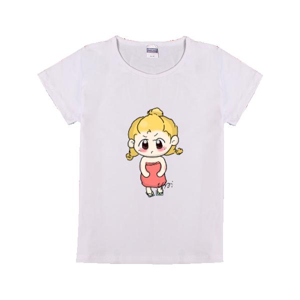 简笔画 时尚童装修身T恤