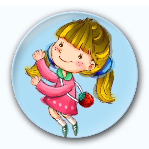 卡通小女孩-卡通小人钥匙扣图片
