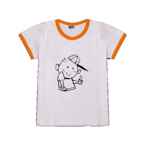 图图简笔画 时尚童装撞色T恤