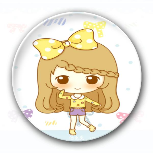 可爱小女孩-卡通小人钥匙扣图片