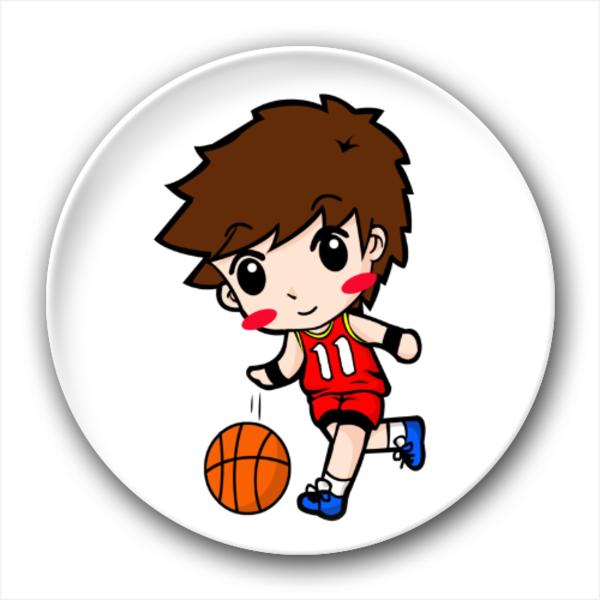 可爱q版篮球男孩-4.4个性徽章
