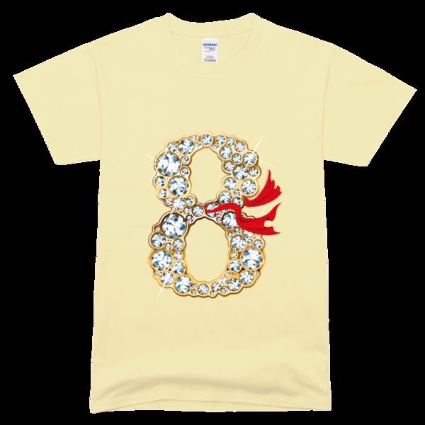 钻石八班高档彩色t恤-毕业季个性班服设计大赛(图案)图片