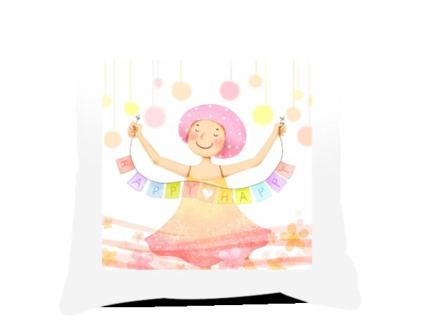抱枕-韩国手绘-方形个性抱枕图片