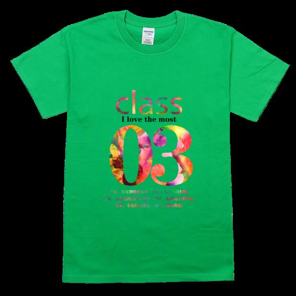 3班班服,绚丽水彩高档彩色t恤图片