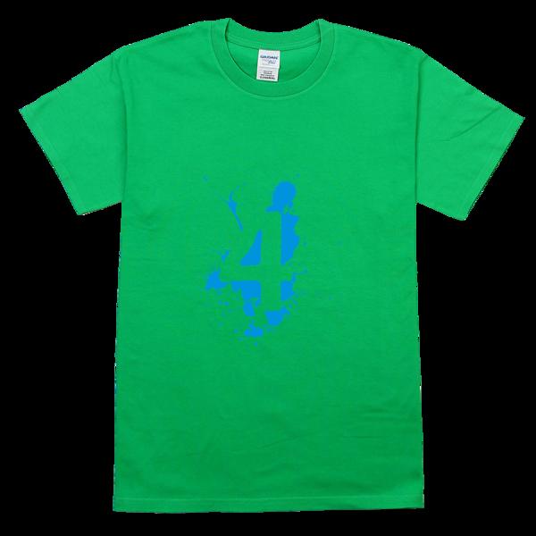 四班班服幸运数字4舒适彩色t恤图片