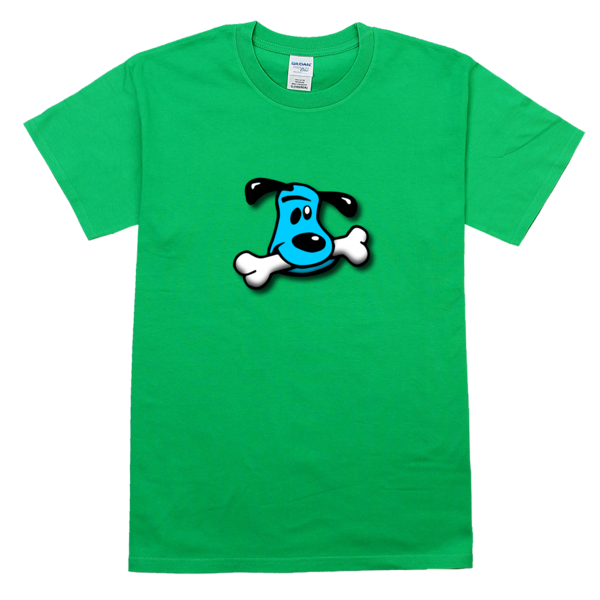 爱吃骨头的可爱小狗舒适彩色T恤