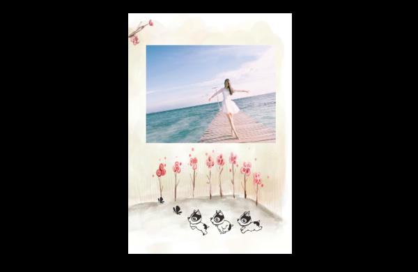 时光静好 温馨 美好 图文可替换 8x12印刷单面水晶照片书21p