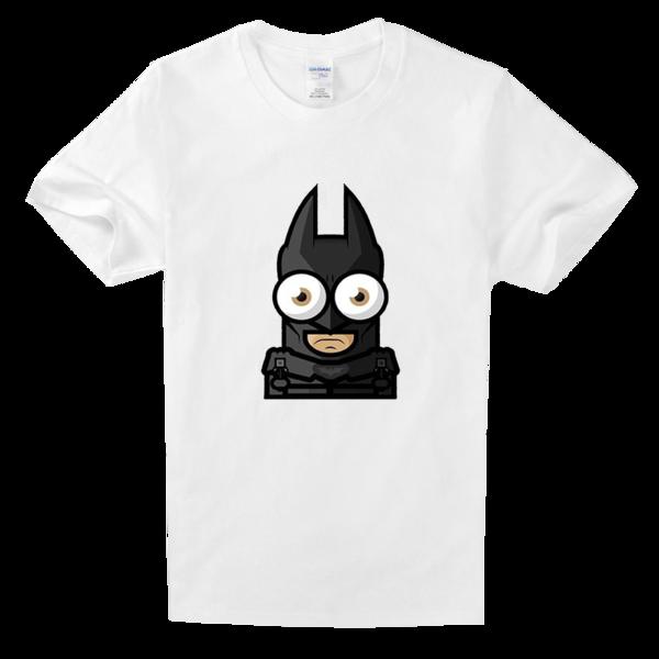 蝙蝠侠可爱简笔画高档白色T恤