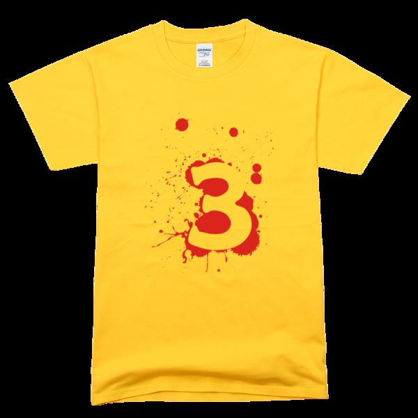 三班班服潮流数字3舒适彩色t恤图片