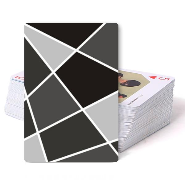 炫彩创意扑克经典几何图案唯美清新文艺商务-双面定制图片