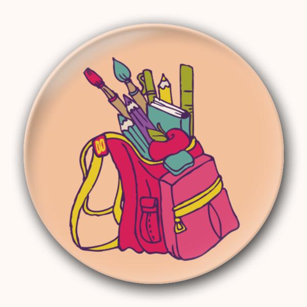 书包绘画笔爱画画学绘画-创意镜子钥匙扣图片