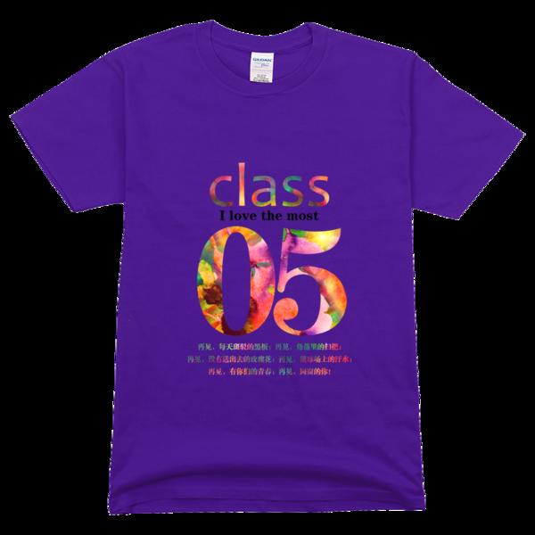 5班班服,绚丽水彩高档彩色t恤图片