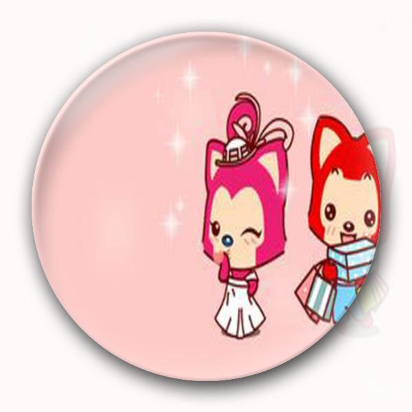阿狸桃子可爱冰箱贴-卡通小人钥匙扣