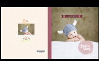 可爱韩风-宝贝的百天纪念 祈愿宝宝长命百岁-8X8锁线硬壳精装照片书24p