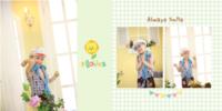 特别的一天 儿童简洁清新成长册-微喷pu蝴蝶装对裱照片书 方10寸(30p)