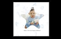 纯真童年-8x8印刷单面水晶照片书