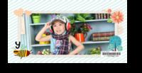 清新卡通花儿&蜜蜂&字母的故事-2019年新款5*9定制台历