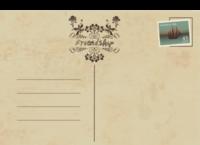 友谊的小船-复古简约旅行毕业の西西呆-18张正方形留白明信片(横款)