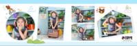 幼儿毕业纪念册9-快乐童年-横款PU儿童毕业纪念册30p