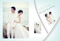 WITH LOVE(清晰大气的爱情、婚纱照片书)-8X12锁线硬壳精装照片书—32p