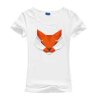 狐狸母版--莱卡纯色圆领女