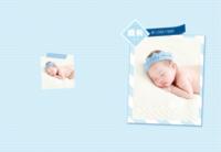 宝宝成长录-儿童相册 宝贝 周岁 百天纪念-8X12锁线硬壳精装照片书—56p