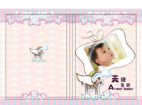 天使宝贝 宝宝成长纪念册(封面文字可改)-A4硬壳照片书24P(全书覆哑膜 防水防污防磨损)