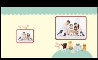 我的一家-全家福 家庭 宝宝 儿童相册-8X8锁线硬壳精装照片书—56p