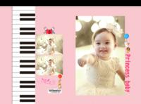 公主宝贝(照片可换)-硬壳精装照片书30p(亮膜)