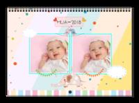 萌萌哒MUA-2018-可爱宠物装饰各不同-精心装点设计感十足-A3横款挂历