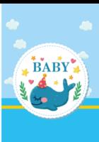 BABY#-B2单月竖款挂历