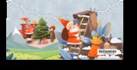 圣诞节(冬季卡通圣诞老人麋鹿礼物雪花)-2019年新款5*9定制台历