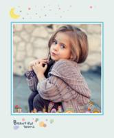 beautiful world 美丽世界 艺术世界 缤纷多彩的童年记忆 爱 成长记录(图可换)-12X10寸木版画竖款