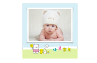 宝宝的幸福生活 可爱宝贝成长留念 快乐的日子 欢乐童年-8x8印刷单面水晶照片书