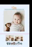 宝宝成长纪念册-印刷胶装杂志册26p(如影随形系列)