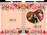 爱像糖果一样甜蜜 浪漫爱情 亲亲宝贝纪念册-硬壳照片书24P