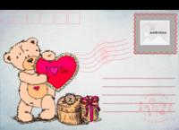 可爱小熊明信片-全景明信片(横款)套装