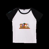 我们的美食-时尚童装插肩T恤
