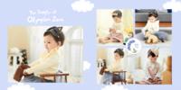 如此甜美 儿童清新简洁成长册-微喷pu蝴蝶装对裱照片书 方10寸(30p)