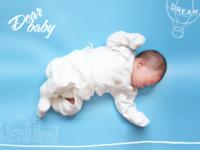 dear baby 亲爱的宝贝(装饰可移动)-40寸横式木版画