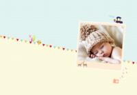 手绘可爱宝宝成长记(生辰、百天、周岁)等风也等你的美好生活-8X12锁线硬壳精装照片书32p