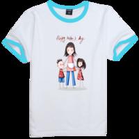 母亲节快乐--成长版时尚撞色纯棉T恤