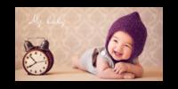 my baby 我的宝贝 萌宝可爱娃-15x30cm拉菲版画 横款