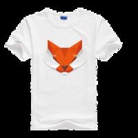 狐狸男母版-莱卡纯色圆领男