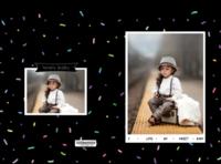 黑色彩点炫酷风 超级小宝贝 可爱萌娃成长记录 宝宝的童话世界-硬壳精装照片书20p(亮膜)