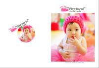 最新韩式儿童相册 微笑瞬间play-horse-8X12锁线硬壳精装照片书—40p