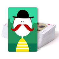 大胡子趣味-双面定制扑克牌