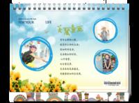 美丽童画 儿童通用 照片可更换-8寸单面印刷台历